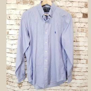 Ralph Lauren Yarmouth 15-34 blue check dress shirt